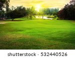 golf course with gorgeous green ... | Shutterstock . vector #532440526
