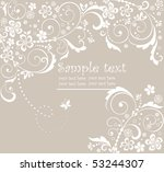 pastel greeting card | Shutterstock .eps vector #53244307