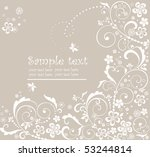 pastel greeting floral card | Shutterstock .eps vector #53244814