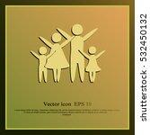 family vector icon | Shutterstock .eps vector #532450132
