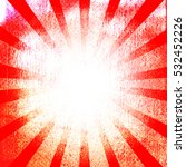 grunge sunburst background  | Shutterstock . vector #532452226