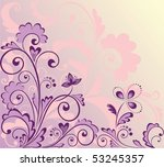 floral violet background | Shutterstock .eps vector #53245357