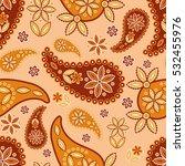 paisley seamless pattern.... | Shutterstock .eps vector #532455976