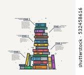 education steps learning... | Shutterstock .eps vector #532458616