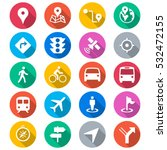 navigation flat color icons | Shutterstock .eps vector #532472155