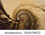 spiral staircase in the arc de... | Shutterstock . vector #532474072