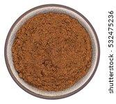 bio organic clove powder in...   Shutterstock . vector #532475236