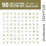vector graphic set of icons in... | Shutterstock .eps vector #532477105