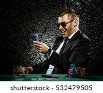 a wealthy mature man drinking... | Shutterstock . vector #532479505