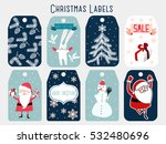 christmas labels | Shutterstock .eps vector #532480696