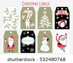 christmas labels | Shutterstock .eps vector #532480768