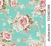 watercolor seamless pattern... | Shutterstock . vector #532482388