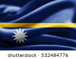 nauru flag of silk 3d... | Shutterstock . vector #532484776