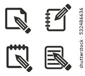 notepad vector icons set.... | Shutterstock .eps vector #532486636