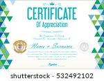 certificate retro design... | Shutterstock .eps vector #532492102