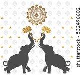 thai art pattern background... | Shutterstock .eps vector #532496602