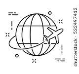 world trip vector icon | Shutterstock .eps vector #532497412