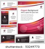 Stylish business backgrounds and cards - templates collection - stock vector