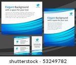 Business templates - letterhead design and cards - blue and white color - stock vector