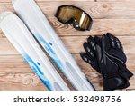 overhead view of ski... | Shutterstock . vector #532498756