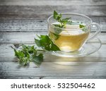 green melissa herbal tea in... | Shutterstock . vector #532504462