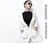 hipster model. swag. minimal... | Shutterstock . vector #532509316