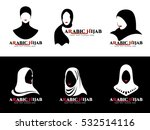 arabic hijab for woman islam... | Shutterstock .eps vector #532514116