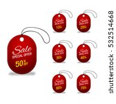 dark red glass sale labels set. | Shutterstock .eps vector #532514668
