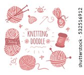 knitting doodle icons set.... | Shutterstock .eps vector #532516912