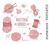 knitting doodle icons set.... | Shutterstock .eps vector #532516912