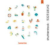 summer and beach simple flat...   Shutterstock .eps vector #532518142