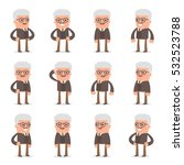 set of smart and cute character ... | Shutterstock .eps vector #532523788