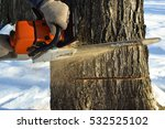 cut down the dry tree with a... | Shutterstock . vector #532525102