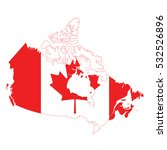 canada flag map. | Shutterstock .eps vector #532526896