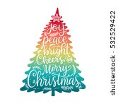 merry christmas phrases  hand... | Shutterstock .eps vector #532529422