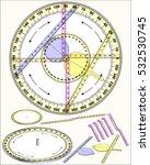 circle trigonometry  apparatus  | Shutterstock .eps vector #532530745