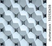 geometrical abstract 3d... | Shutterstock . vector #532532638