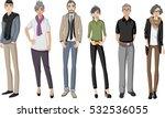 group of happy cartoon old... | Shutterstock .eps vector #532536055