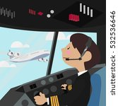 pilot vector illustration... | Shutterstock .eps vector #532536646