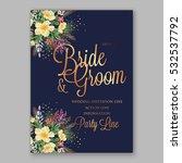 wedding invitation floral...   Shutterstock .eps vector #532537792