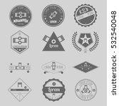 set of hipster vapor coil... | Shutterstock .eps vector #532540048