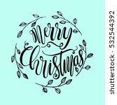 merry christmas. modern... | Shutterstock .eps vector #532544392