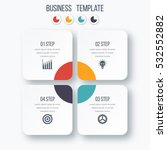 infographics template four... | Shutterstock .eps vector #532552882