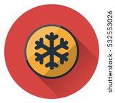 cold warning sign. flat style... | Shutterstock .eps vector #532553026