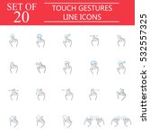 touch gestures line pictograms...