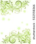 background with floral pattern  ... | Shutterstock . vector #532558366