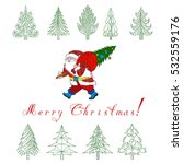 christmas tree with doodle... | Shutterstock .eps vector #532559176