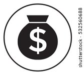 bag of money icon with dollar...   Shutterstock . vector #532560688
