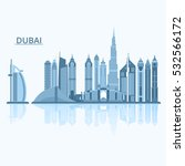 vector illustration of dubai... | Shutterstock .eps vector #532566172