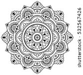 Vector Henna Tatoo Mandala....